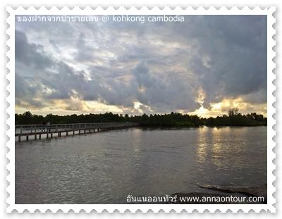 สะพานปูที่ทอดตัวข้ามแม่น้ำเกาะกง