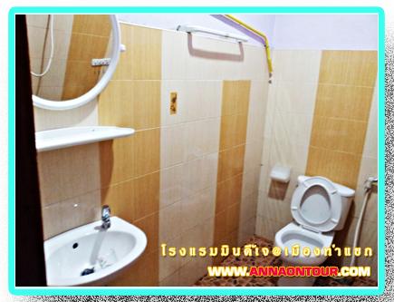 ห้องน้ำภายในห้องพักโรงแรมมินดี้เจ minde j Hotel