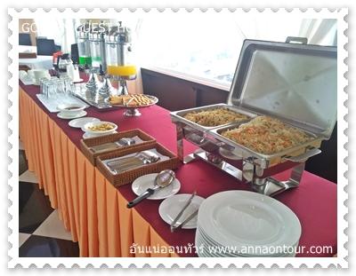 อาหารเช้าโรงแรมโกลเด้นเกสท์ ในทวาย