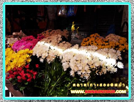 ร้านดอกไม้ในตลาดเกาะสอง
