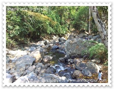 หินบนน้ำตกป่าละอูชั้นที่ 1