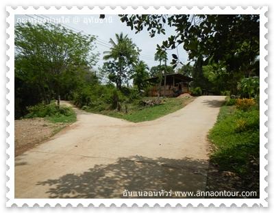 เส้นทางในหมู่บ้านกะเหรี่ยง